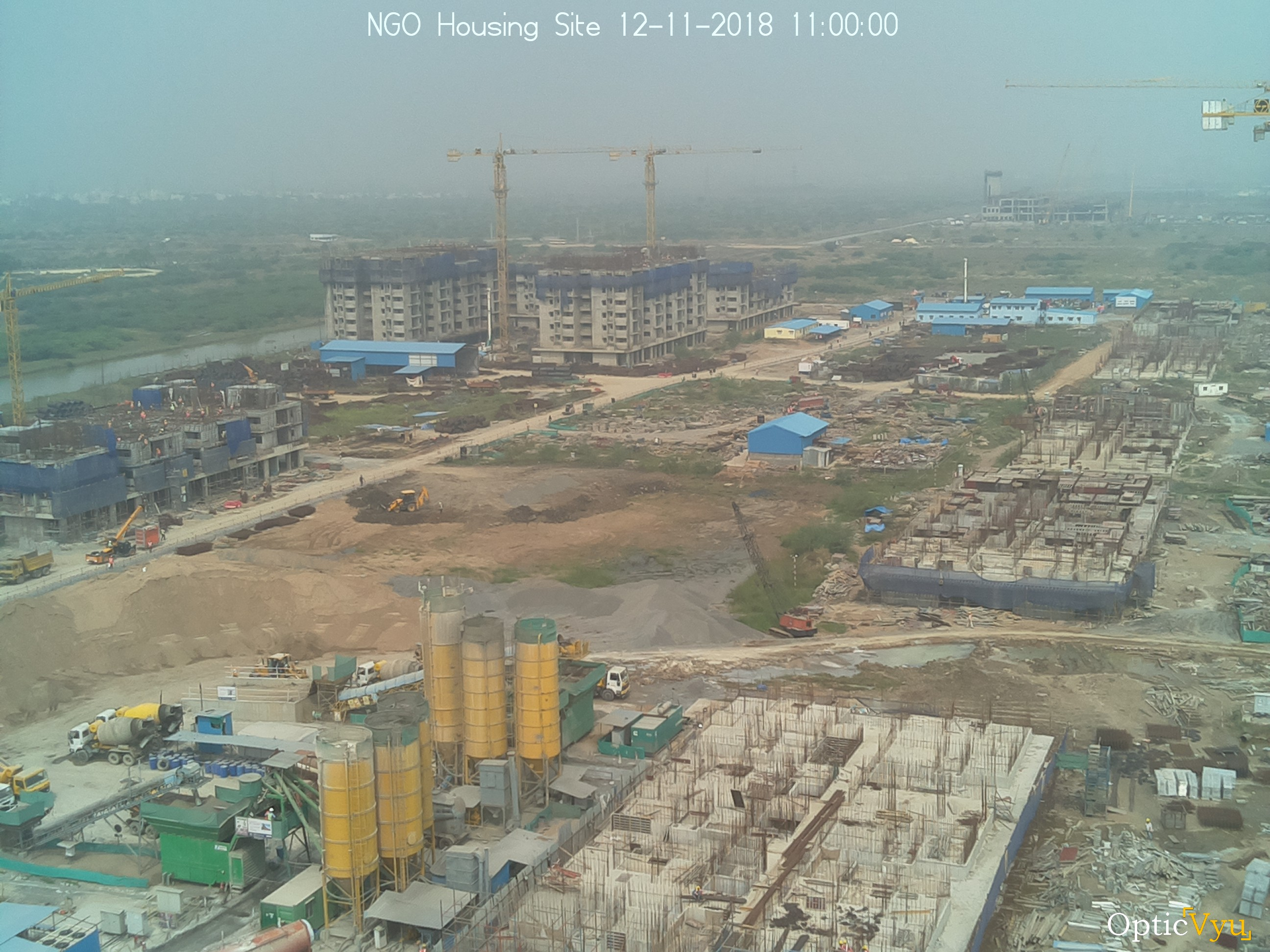 NGO housing site construction camera image