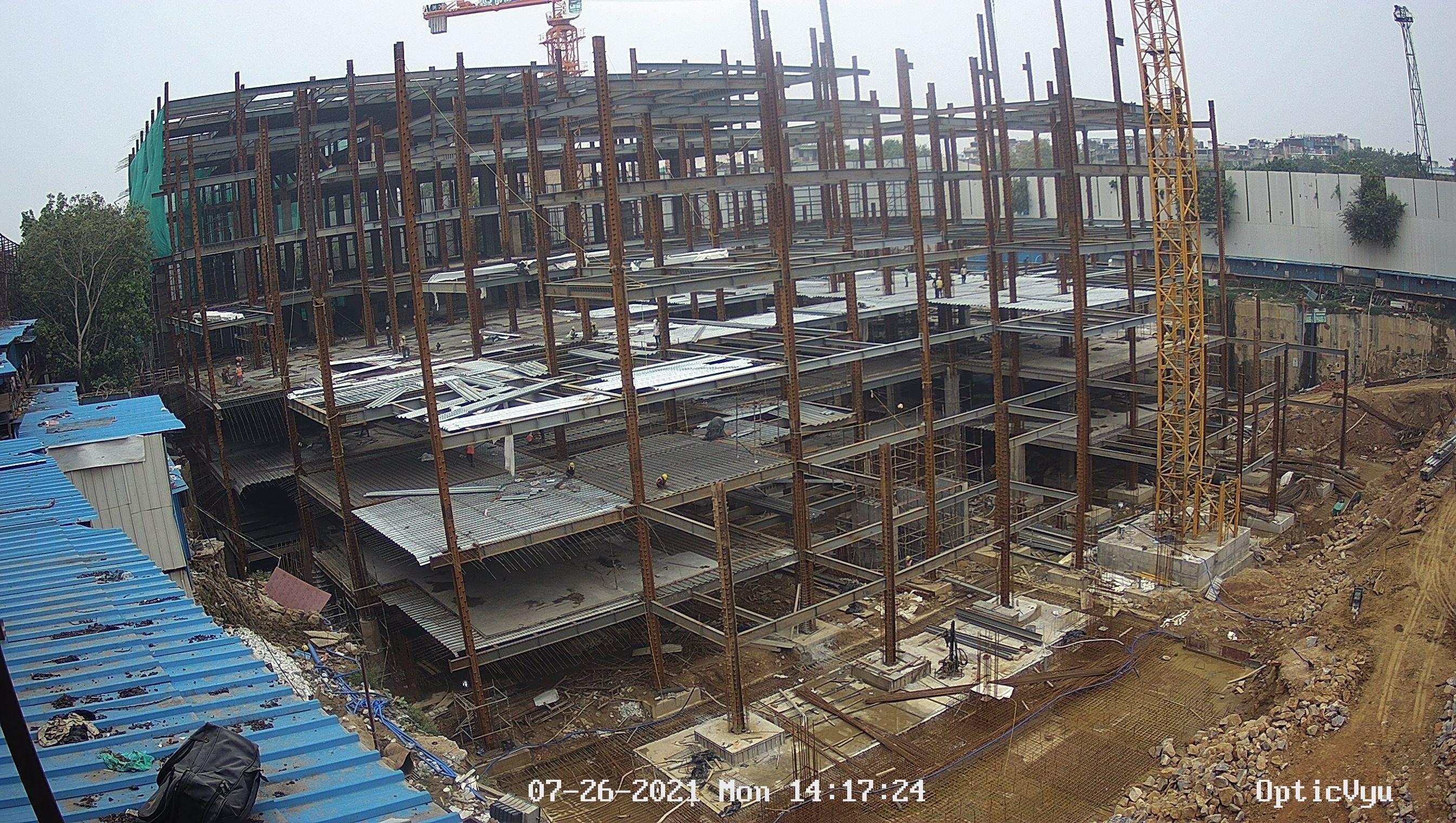 NGO housing site construction camera image